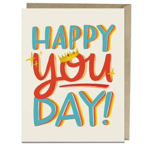 EM and Friends CARD - HAPPY YOU DAY BIRTHDAY