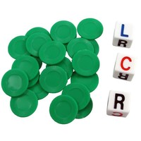 L-C-R DICE GAME - GREEN TUBE