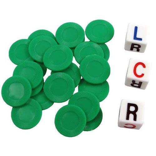 Koplow Games L-C-R DICE GAME - GREEN TUBE