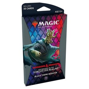 Wizards of the Coast MTG: ADVENTURES IN THE FORGOTTEN REALMS - THEME BOOSTER - BLACK
