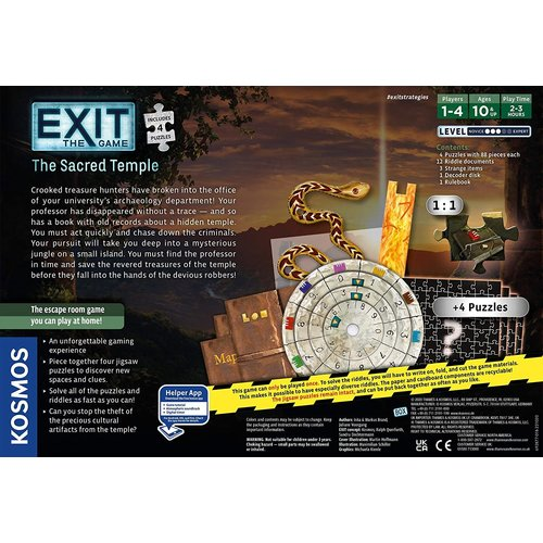 Thames & Kosmos EXIT: THE SACRED TEMPLE + PUZZLE