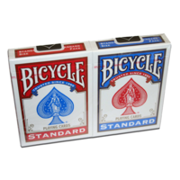 BICYCLE POKER DOUBLE BLUE/RED