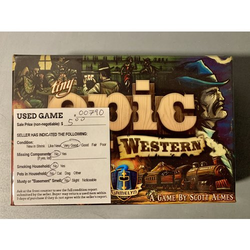 USED Tiny Epic Western 7/19/2021