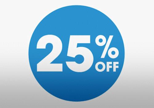 25% DISCounts