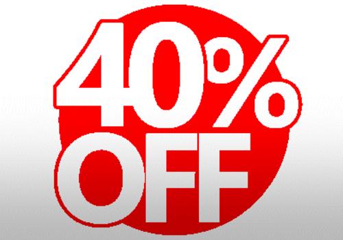 40% DISCounts!