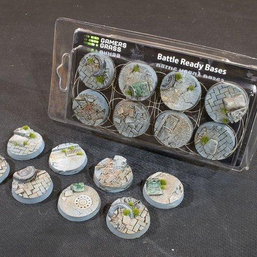 Gamers Grass SCENIC BASES: URBAN WARFARE - ROUND 32mm (8)