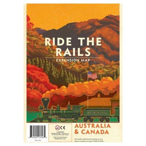 Capstone Games RIDE THE RAILS: AUSTRALIA  & CANADA MAPS
