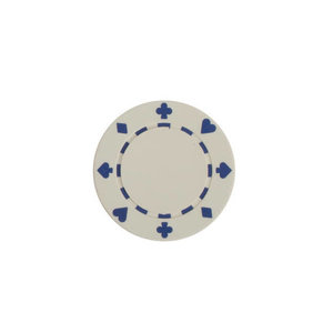 CHH Quality Products POKER CHIP 11G SUITED WHITE (50 ct)