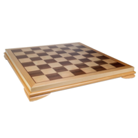 """CHESS BOARD 20"""" INLAID WOOD w/ 2.2"""" SQUARES"""