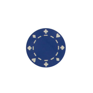 CHH Quality Products POKER CHIP 11G SUITED BLUE (50 ct)