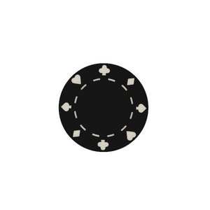 CHH Quality Products POKER CHIP 11G SUITED BLACK (50 ct)