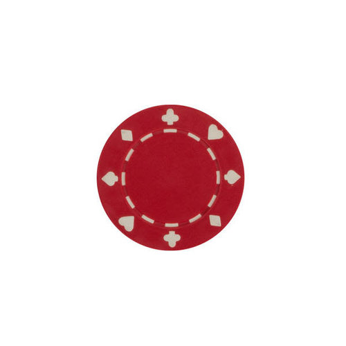 CHH Quality Products POKER CHIP 11G SUITED RED (50 ct)