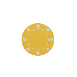 CHH Quality Products POKER CHIP 11G SUITED YELLOW (50 ct)
