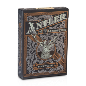 ART OF PLAY ANTLER BLACK EDITION PLAYING CARDS