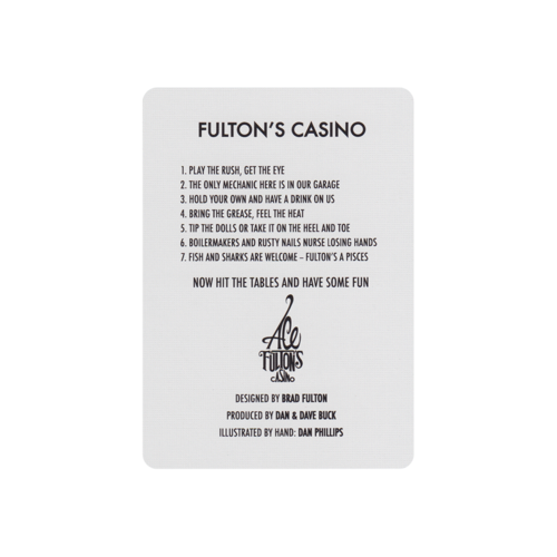 ART OF PLAY ACE FULTON'S CASINO VINTAGE BACK PLAYING CARDS