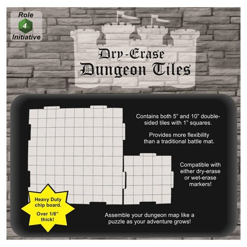 Role 4 Initiative DRY ERASE DUNGEON TILES: WHITE COMBO PACK