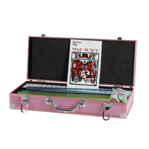 CHH Quality Products MAH JONG WESTERN PINK ALUMINUM CASE w/PUSHERS
