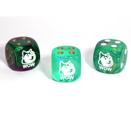 Chessex CUSTOM D6 16mm DOGE SHIBA WOW (Assorted Colors)