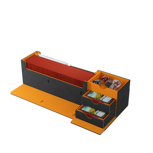 GAMEGENIC DECK BOX: CARDS' LAIR 400+ BLACK / ORANGE