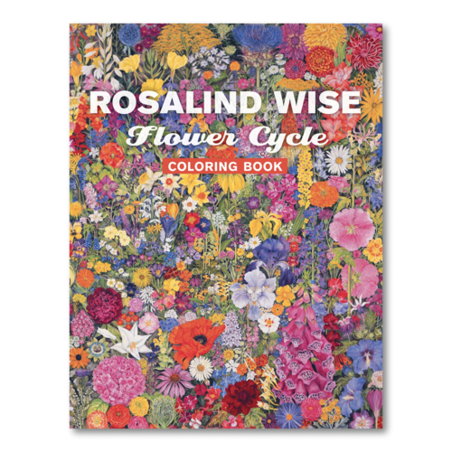 POMEGRANATE ROSALIND WISE FLOWER CYCLE COLORING BOOK