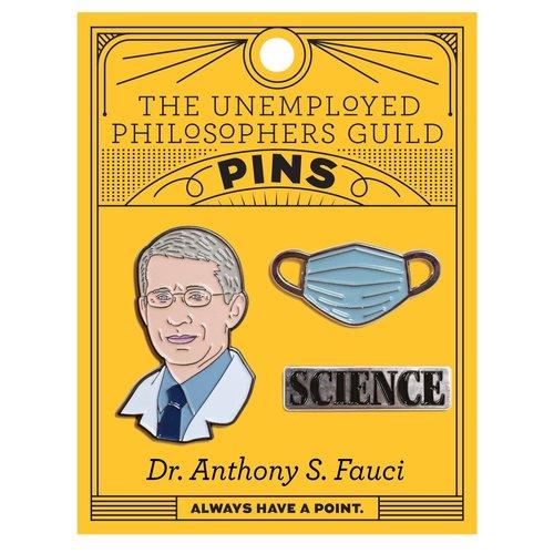 UNEMPLOYED PHILOSOPHERS PIN: DR ANTHONY S FAUCI SET