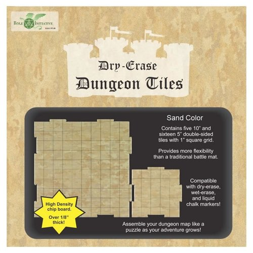 Role 4 Initiative DRY ERASE DUNGEON TILES: SAND COLOR COMBO PACK