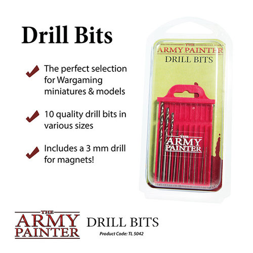 The Army Painter TOOLS: DRILL BITS (10)