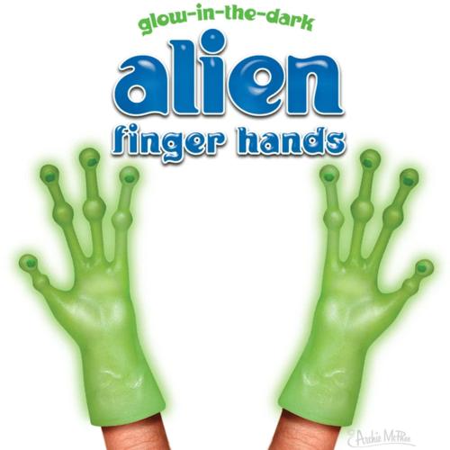 Archie McPhee FINGER HANDS GLOW-IN-THE-DARK ALIEN