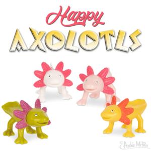 Archie McPhee HAPPY AXOLOTLS