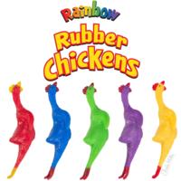 RAINBOW RUBBER CHICKENS