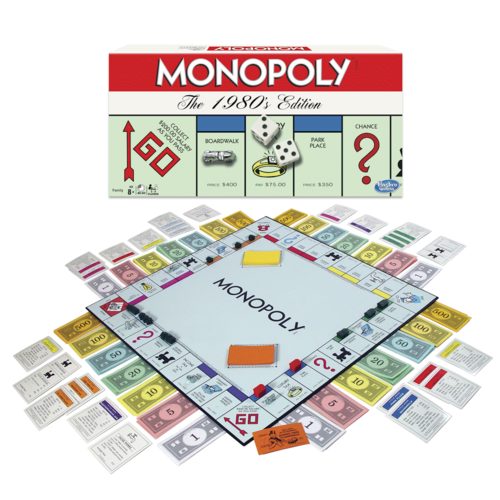 WINNING MOVES MONOPOLY: THE 1980s EDITION