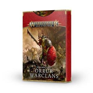 Games Workshop WARSCROLL CARDS: ORRUK WARCLANS