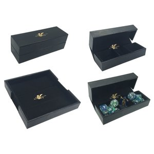 Role 4 Initiative DICE TRAY & DICE BOX -LUXURY FAUX LEATHER