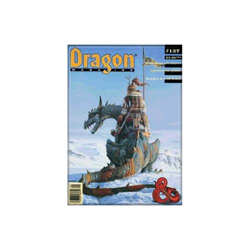 ATA-BOY MAGNET: D&D - DRAGON MAGAZINE #137