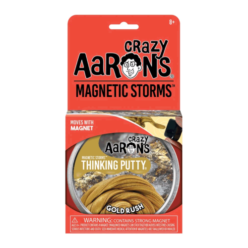 Crazy Aaron's Putty World THINKING PUTTY - MAGNETIC STORMS - GOLD RUSH