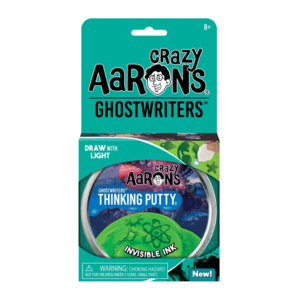 Crazy Aaron's Putty World THINKING PUTTY - GHOSTWRITERS - INVISIBLE INK