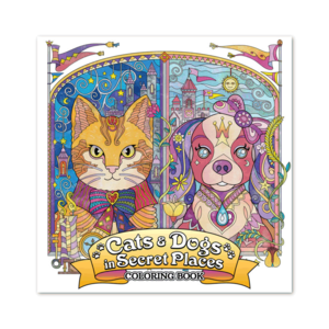 Paige Tate & Co CATS & DOGS IN SECRET PLACES COLORING BOOK