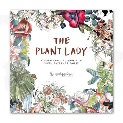 Paige Tate & Co THE PLANT LADY: A FLORAL COLORING BOOK
