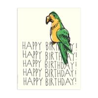 PARROT HAPPY BIRTHDAY CARD