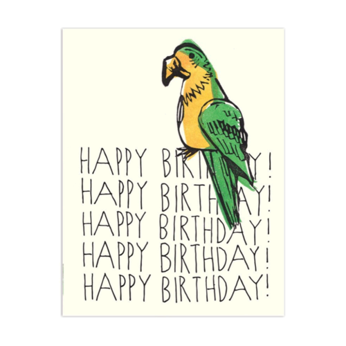The Found PARROT HAPPY BIRTHDAY CARD