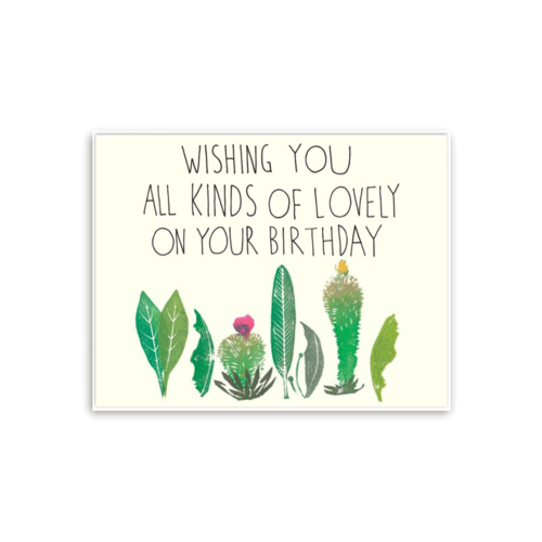 The Found LOVELY PLANTS BIRTHDAY CARD