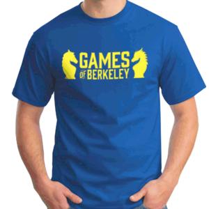 Games of Berkeley MEN'S ROYAL BLUE GoB SHIRT w/ YELLOW LOGO