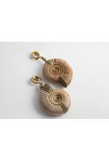 Diablo Organics Diablo Organics brass set  Madagascar ammonites on large, distressed, classic coil