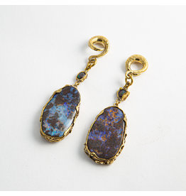 Diablo Organics Diablo Organics Boulder Opal with Black Opal accent on large coil