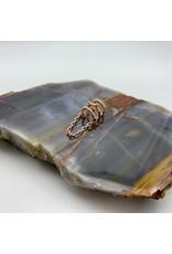 Tawapa Chained Love ear cuff - Rose gold plate