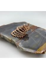 Tawapa Beaded Warrior ear cuff - rose gold plate