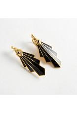 "Buddha Jewelry Organics Buddha Jewelry Organics brass ""Mini Deco"" with onyx hanging design"
