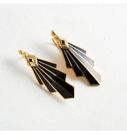 """Buddha Jewelry Organics BJO Brass """"Mini Deco"""" with Onyx"""