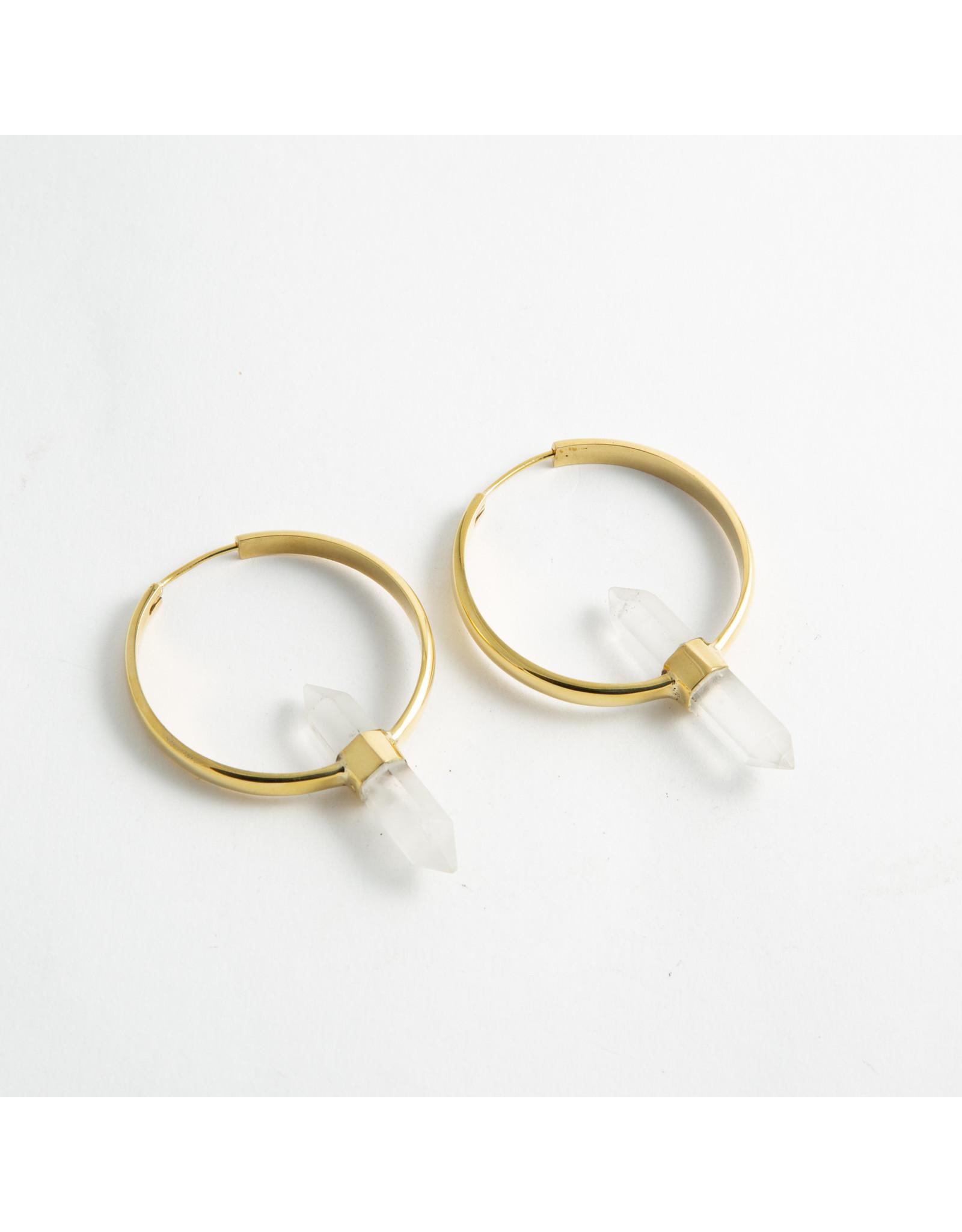 "Buddha Jewelry Organics Buddha brass ""Mini Alchemy"" with crystal hanging design"
