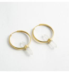 """Buddha Jewelry Organics BJO Brass """"Mini Alchemy"""" with Crystal"""